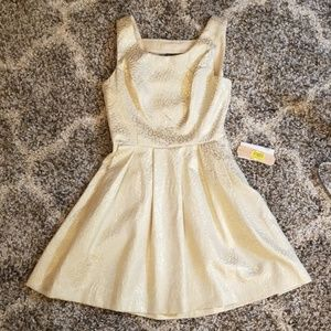 NWT Shimmering Gold GB Dress Homecoming Party Club